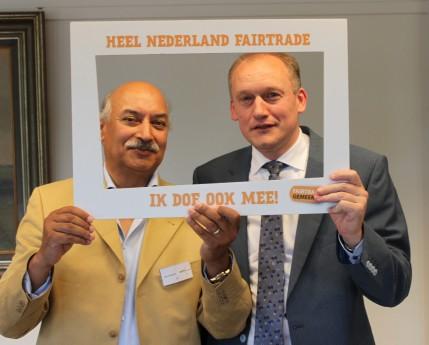 John van Balen en wethouder Hans Marchal